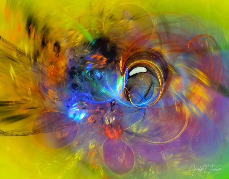 Digital Abstract Composition - Spring Bubble