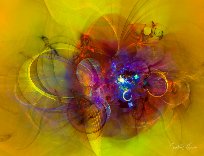 Digital Abstract Composition - Perpetuum mobile