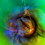 Digital Abstract Composition - One Warm Feeling