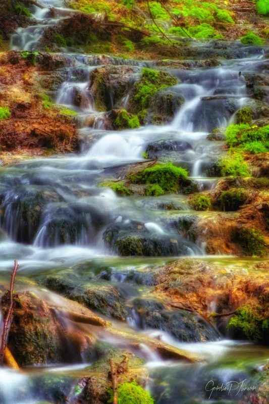Dry Summer Falls - Beautiful waterfalls at Plitvice Lakes National Park , UNESCO World Heritage Center