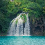 Beautiful waterfall at Plitvice Lakes National Park ,by UNESCO World Heritage Center