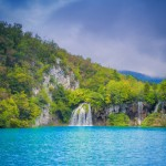 Beautiful waterfall at Plitvice Lakes National Park , UNESCO World Heritage Center. Great nature Art Prints