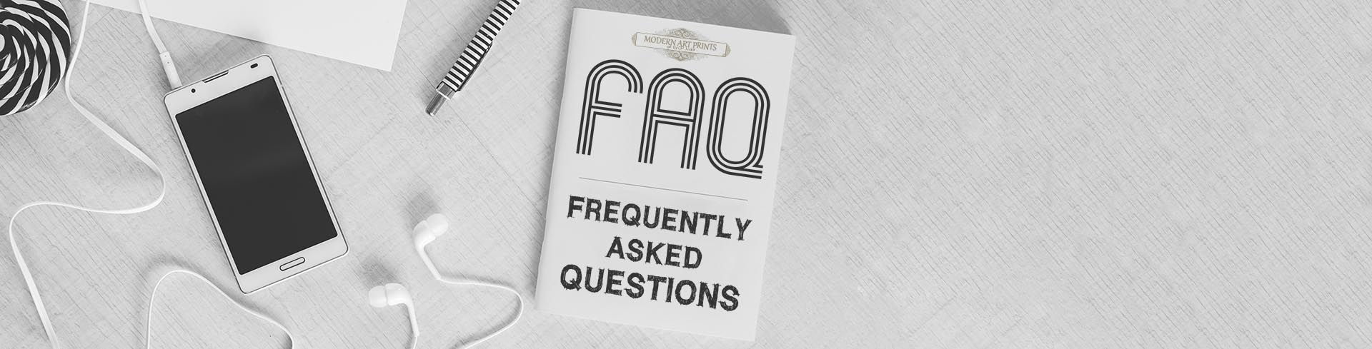 frequently asked questions header