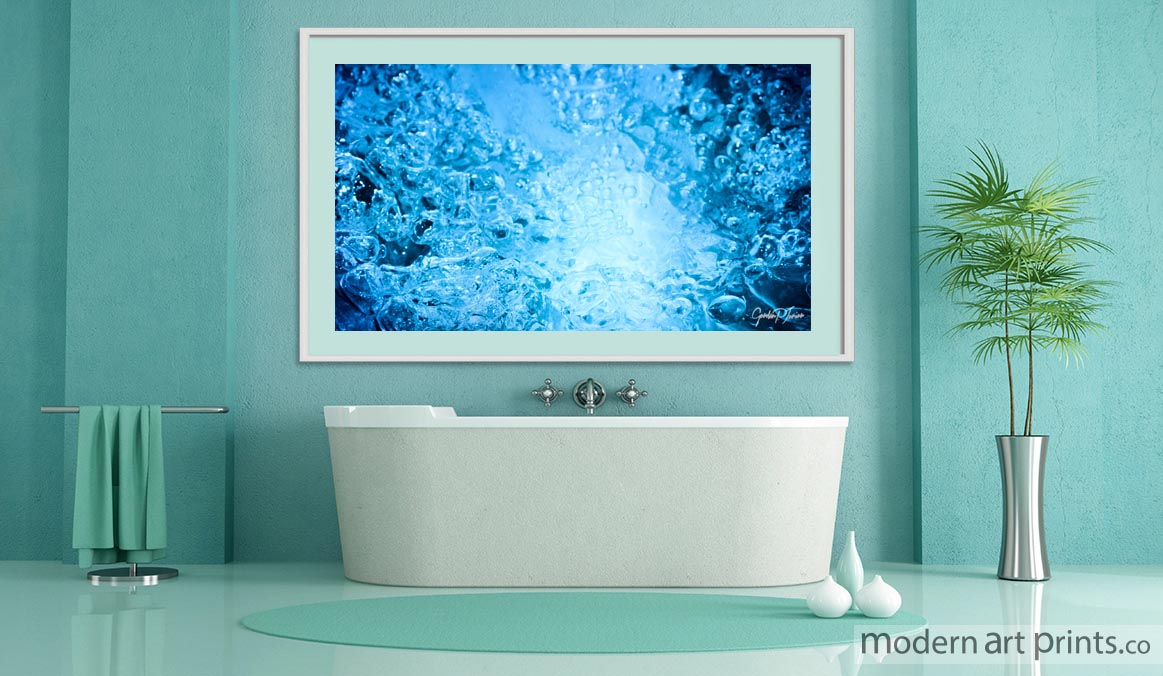 Bathroom Wall Art - Abstract Water Photography - Modern art prints
