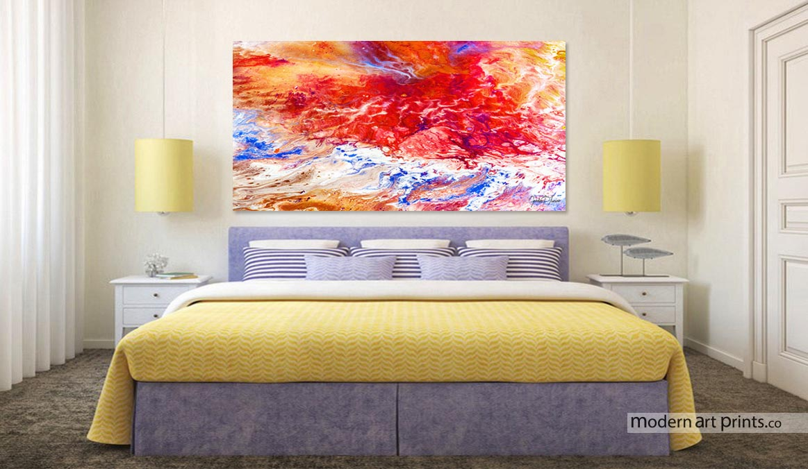 Bedroom - Abstract painting - Moder Art Prints