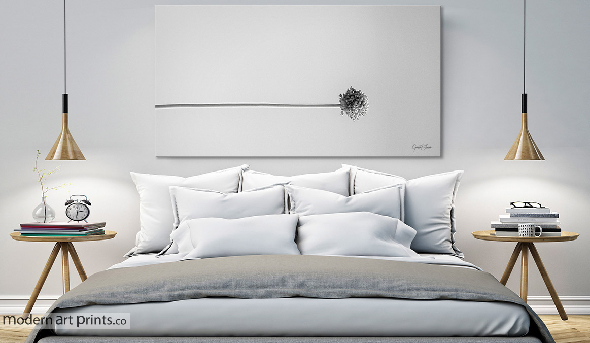 Bedroom Wall Art - Flower Photography - Black And White - Modern Art prints