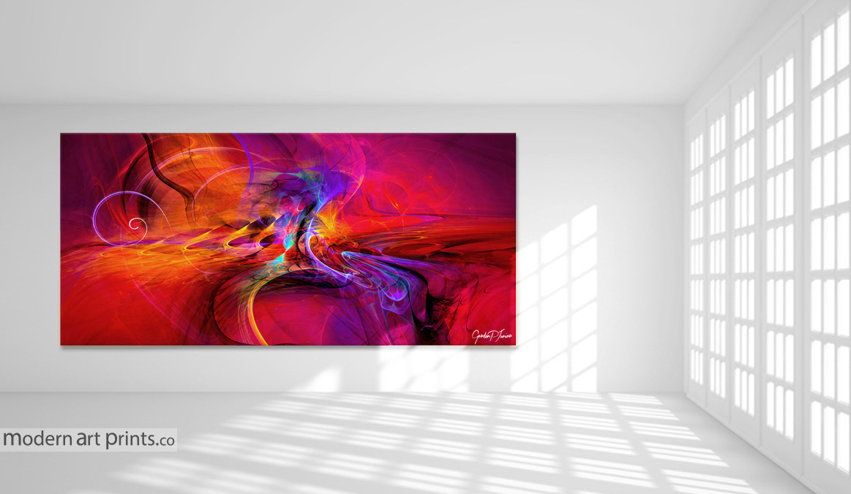Gallery Interior - Digital Abstract Art - Modern Art Prints
