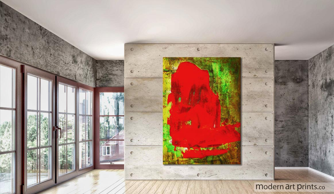 Living Room Wall Art Abstract Colorful Painting Child In Time Modern Art  Prints