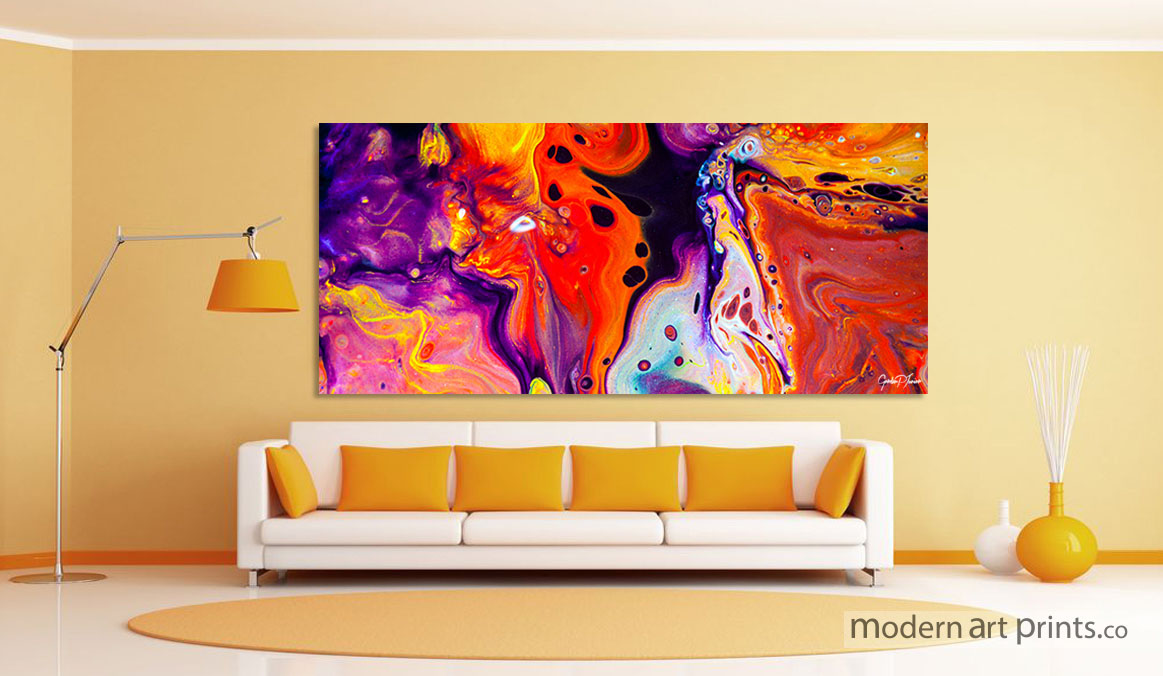 Living Room Wall Art - Abstract Colorful Painting - Modern Art prints
