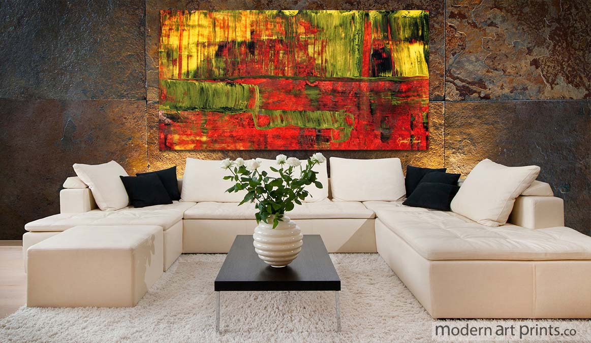 Modern art prints framed wall art large canvas prints - Wall paintings for living room ...