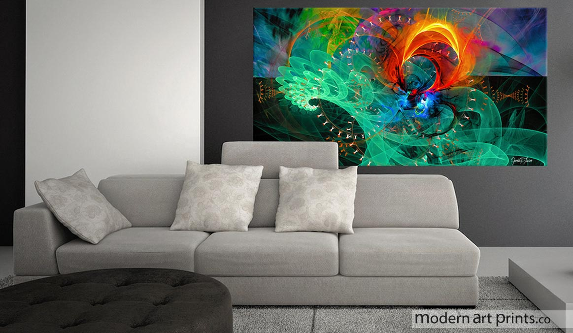 Modern art prints framed wall art large canvas prints Contemporary artwork for living room