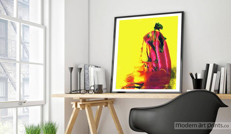 Study Wall Art - Abstract Painting - Geisha Wall Art - Modern art prints
