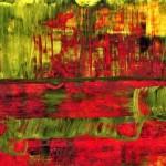Summer Rain Wall Art Prints - Abstract Colorful Mixed Media Painting by Gordan P. Junior