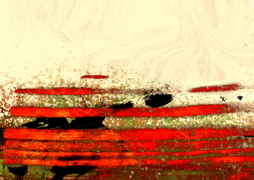 Contemporary Red Abstract Art For Sale. Artwork Detail