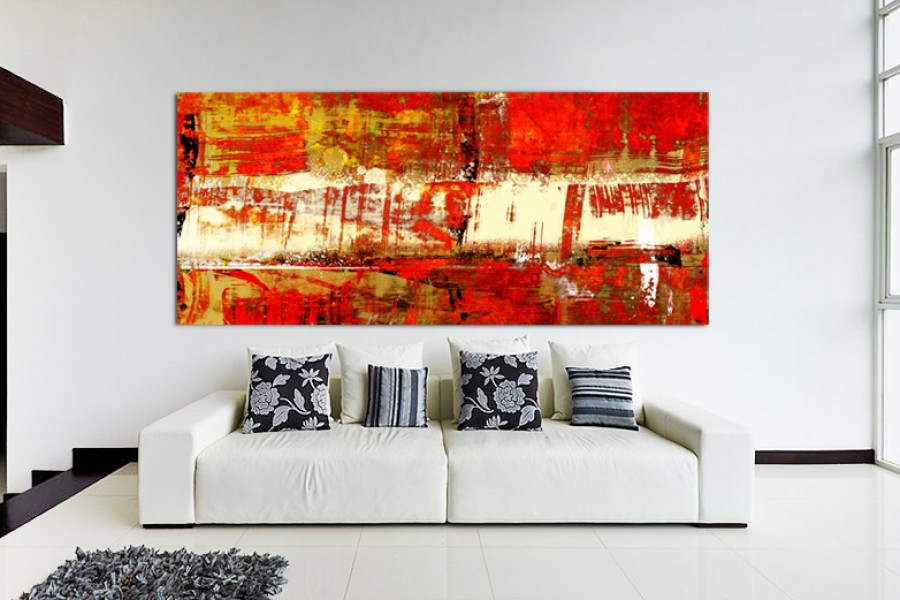 Indian Summer – Contemporary Red Abstract Art