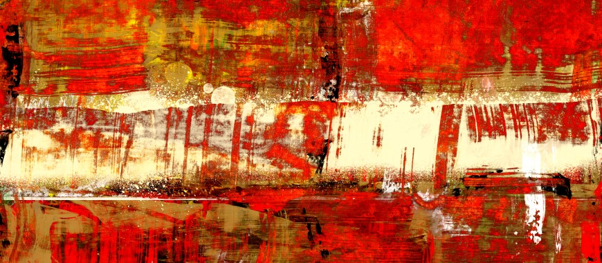 Contemporary Red Abstract Art - Indian Summer. Art By Gordan P. Junior