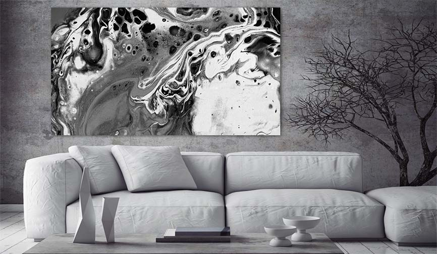 Modern Art Prints - Buy Black And White Modern Abstract Art Painting For Sale - Large Wall Art Prints For Modern Living Rooms And Bedrooms