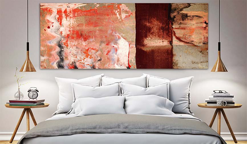 Contemporary Abstract Painting For Sale - Modern Art Prints For Bedroom Interiors