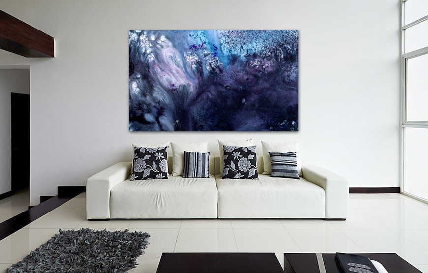 Large Abstract Art For Sale November Rain Canvas And Framed